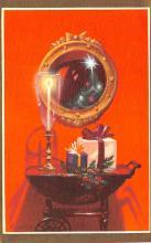 hol052247 - Christmas Postcard Old Vintage Antique Post Card