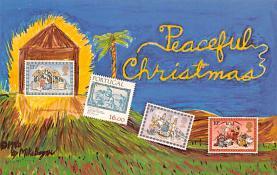 hol052257 - Christmas Postcard Old Vintage Antique Post Card