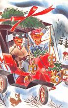 hol052263 - Christmas Postcard Old Vintage Antique Post Card