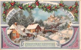 hol052265 - Christmas Postcard Old Vintage Antique Post Card