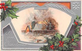 hol052267 - Christmas Postcard Old Vintage Antique Post Card