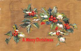 hol052271 - Christmas Postcard Old Vintage Antique Post Card