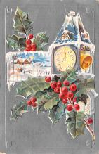 hol052273 - Christmas Postcard Old Vintage Antique Post Card