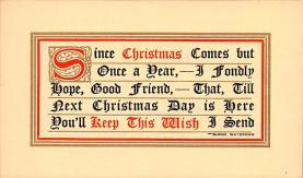 hol052285 - Christmas Postcard Old Vintage Antique Post Card