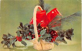 hol052289 - Christmas Postcard Old Vintage Antique Post Card