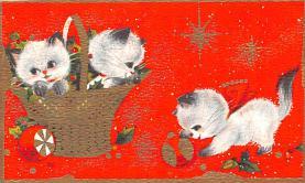 hol052295 - Christmas Postcard Old Vintage Antique Post Card