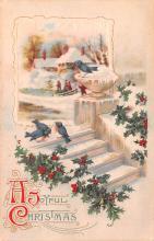 hol052297 - Christmas Postcard Old Vintage Antique Post Card