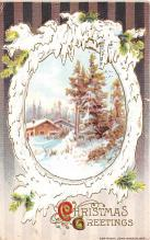 hol052303 - Christmas Postcard Old Vintage Antique Post Card
