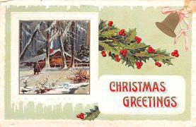 hol052311 - Christmas Postcard Old Vintage Antique Post Card