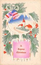 hol052323 - Christmas Postcard Old Vintage Antique Post Card