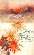 hol052333 - Christmas Postcard Old Vintage Antique Post Card