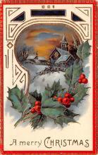 hol052335 - Christmas Postcard Old Vintage Antique Post Card