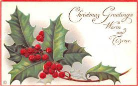 hol052337 - Christmas Postcard Old Vintage Antique Post Card