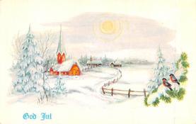 hol052343 - Christmas Postcard Old Vintage Antique Post Card