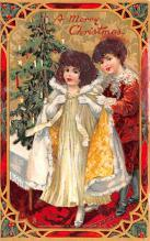 hol052345 - Christmas Postcard Old Vintage Antique Post Card