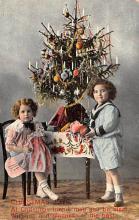 hol052347 - Christmas Postcard Old Vintage Antique Post Card