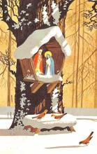 hol052351 - Christmas Postcard Old Vintage Antique Post Card