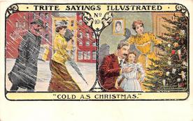 hol052353 - Christmas Postcard Old Vintage Antique Post Card