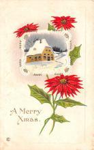 hol052361 - Christmas Postcard Old Vintage Antique Post Card