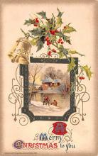 hol052367 - Christmas Postcard Old Vintage Antique Post Card
