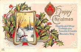 hol052369 - Christmas Postcard Old Vintage Antique Post Card