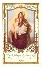hol052371 - Christmas Postcard Old Vintage Antique Post Card