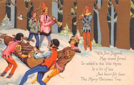 hol052373 - Christmas Postcard Old Vintage Antique Post Card
