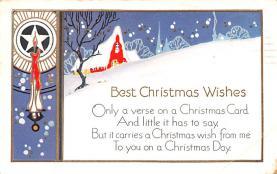 hol052377 - Christmas Postcard Old Vintage Antique Post Card
