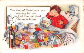 hol052379 - Christmas Postcard Old Vintage Antique Post Card