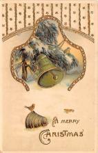 hol052395 - Christmas Postcard Old Vintage Antique Post Card