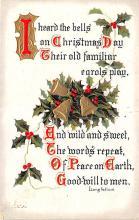 hol052397 - Christmas Postcard Old Vintage Antique Post Card
