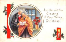hol052401 - Christmas Postcard Old Vintage Antique Post Card