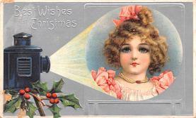 hol052407 - Christmas Postcard Old Vintage Antique Post Card