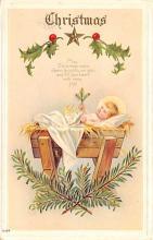 hol052417 - Christmas Postcard Old Vintage Antique Post Card