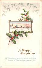 hol052435 - Christmas Postcard Old Vintage Antique Post Card