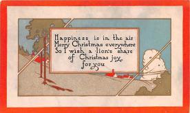 hol052437 - Christmas Postcard Old Vintage Antique Post Card