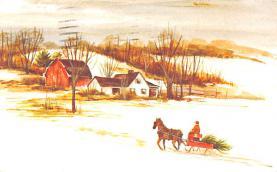 hol052445 - Christmas Postcard Old Vintage Antique Post Card