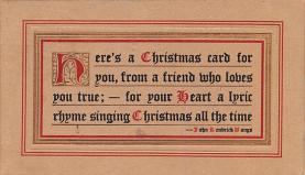 hol052451 - Christmas Postcard Old Vintage Antique Post Card