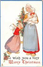 hol052455 - Christmas Postcard Old Vintage Antique Post Card