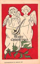 hol052461 - Christmas Postcard Old Vintage Antique Post Card
