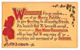 hol052465 - Christmas Postcard Old Vintage Antique Post Card