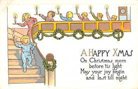 hol052467 - Christmas Postcard Old Vintage Antique Post Card
