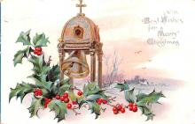 hol052471 - Christmas Postcard Old Vintage Antique Post Card