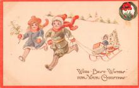 hol052473 - Christmas Postcard Old Vintage Antique Post Card