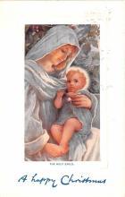 hol052475 - Christmas Postcard Old Vintage Antique Post Card