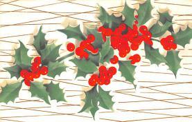 hol052483 - Christmas Postcard Old Vintage Antique Post Card