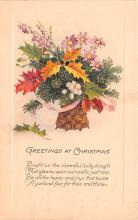 hol052485 - Christmas Postcard Old Vintage Antique Post Card