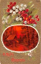 hol052491 - Christmas Postcard Old Vintage Antique Post Card