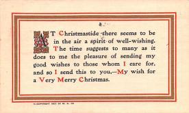 hol052493 - Christmas Postcard Old Vintage Antique Post Card