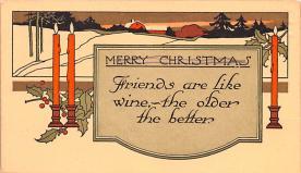 hol052495 - Christmas Postcard Old Vintage Antique Post Card